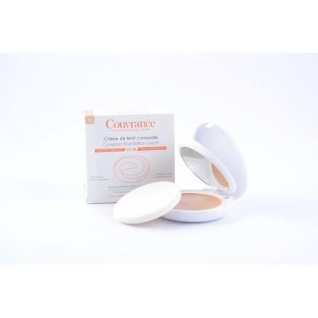AVENE COUVRANCE Crème de teint compacte confort Porcelaine Boitier de 9,5g