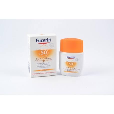 EUCERIN SUN 50+ Crème visage teintée Tube de 50ml