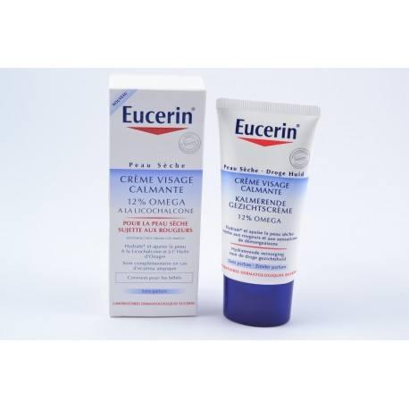EUCERIN OMEGA Crème visage calmante sans parfum Tube de 50ml