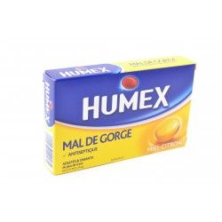 HUMEX MAL GORGE MIEL CITRON 20mg Past Plq/24
