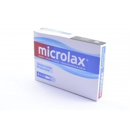 MICROLAX Solution rectale 4 Récipients-unidoses de 5ml