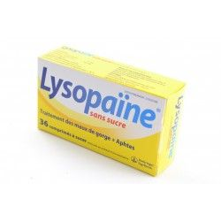 LYSOPAINE SANS SUCRE Comprimés à sucer 2 Tubes de 18