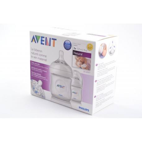 Philips AVENT Lot de 2 biberons Natural PP 125ml