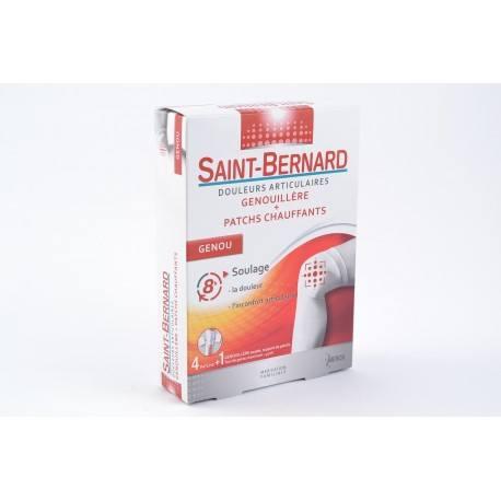 SAINT BERNARD Genoux et articulations boite de 4 patch + 1 genouillère souple