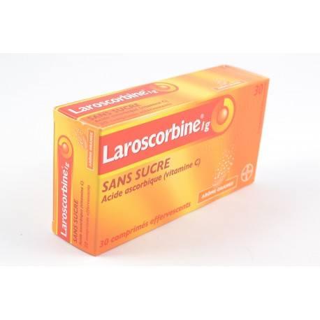 LAROSCORBINE sans sucre 1g Comprimés effervescents 2 Tubes de 15