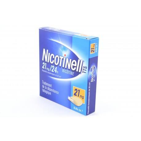 NICOTINELL TTS 21mg/24h Dispositif transdermique de 30 cm² 7 Sachets