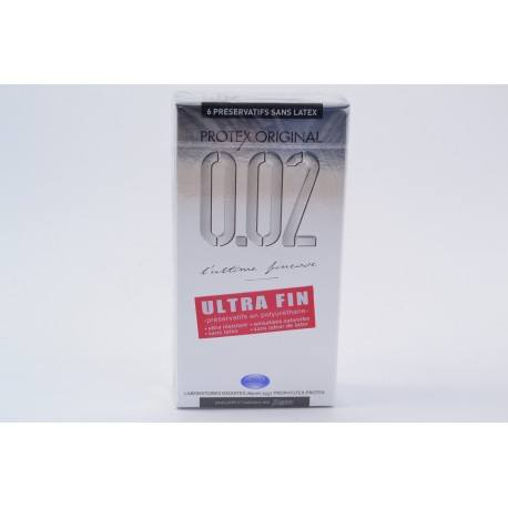 PROTEX ORIGINAL 0.02 Préservatifs avec réservoir sans latex Boite de 6