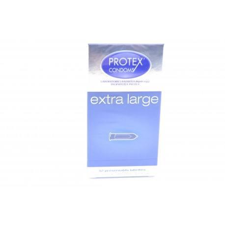 PROTEX EXTRA LARGE Préservatifs avec réservoir Boite de 12