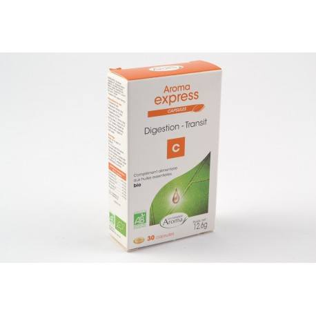 AROMA EXPRESS Capsules DIGESTION TRANSIT Boite de 30