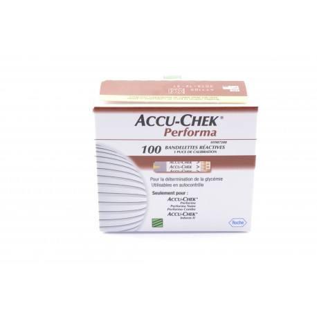 ACCU CHEK Performa Bandelettes 2 Flacons de 50