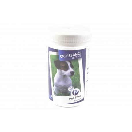 PET PHOS Croissance et allaitement Grand Chiens 25 kg Boite de 100 comprimés
