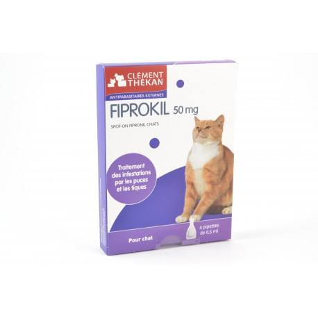 FIPROKIL Solution antiparasitaire pour Chat 4 pipettes de 0.5 ml