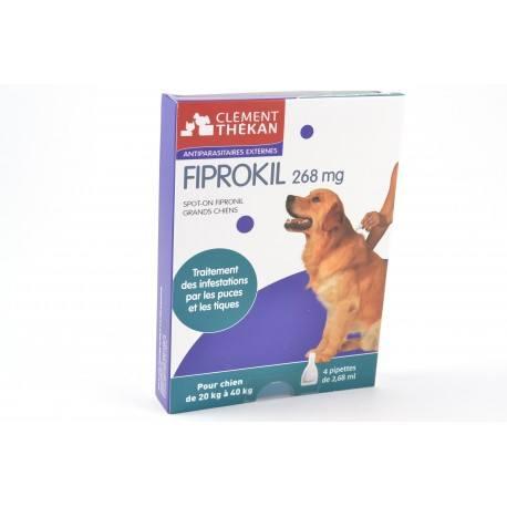 FIPROKIL Solution antiparasitaire pour chien de 20-40 kg 4 pipettes de 2.68 ml