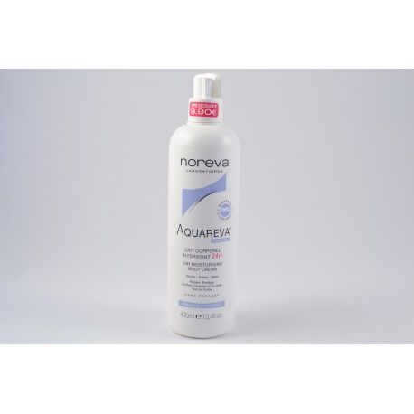 NOREVA AQUAREVA Lait co^rporel hydratant 24h flacon pompe de 400 ml