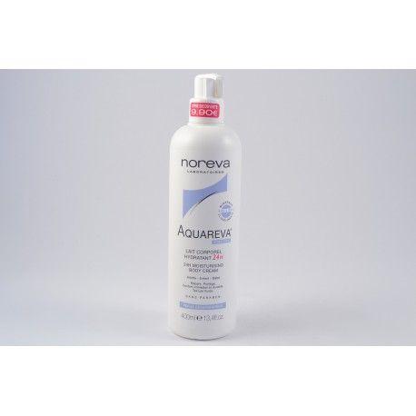 NOREVA AQUAREVA Lait corporel hydratant 24h flacon pompe de 400 ml