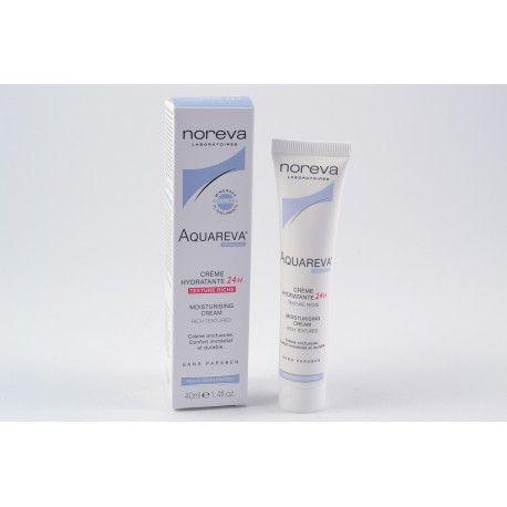 NOREVA AQUAREVA Crème hydratante 24h texture riche tube de 40 ml