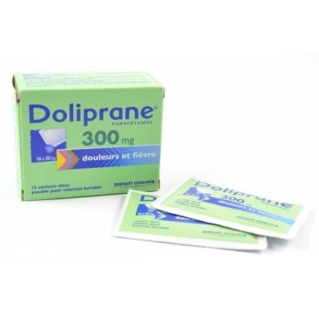 DOLIPRANE (Paracétamol) 300 mg de 15 à 24kg Boite de 10 suppositoires