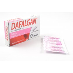 Dafalgan 80mg boite de 10 suppositoires