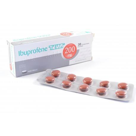 IBUPROFENE TEVA 200 mg Boite de 30 comprimés