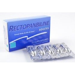 RECTOPANBILINE Adultes Boite de 10 suppositoires