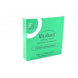 Vitabact Collyre antiseptique 10 unidoses de 0.4 ml