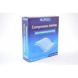 URGO Compresses stériles Gaze hydrophile pur coton