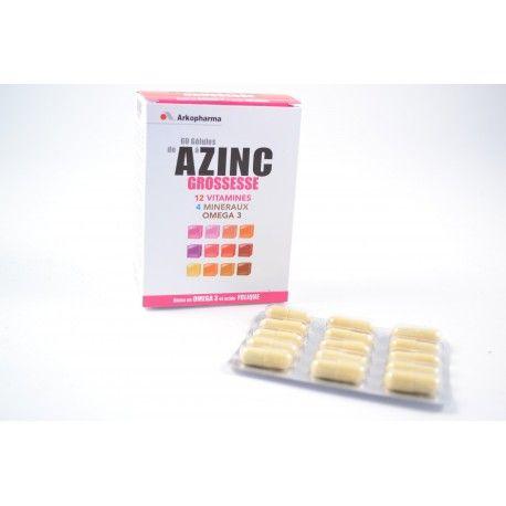 ARKOPHARMA AZINC GROSSESSE Boite de 60 gélules