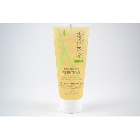 ADERMA Gel douche surgras à l'avoine Rhealba Tube de 200 ml