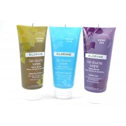 KLORANE Pack de 3 gels douche Instant boisé + Escale azur + Esprit zen