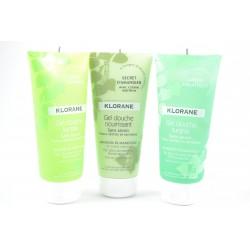 KLORANE Pack de 3 gels douche Eveil matinal + Jardin aquatique + secret d'amandier