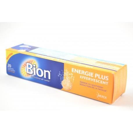 BION ENERGIE PLUS Boite de 20 comprimés effervescents Goût Orange