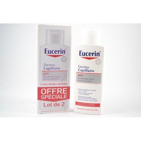 EUCERIN DERMO CAPILLAIRE Shampooing doux offre de 2 Flacons de 250ml
