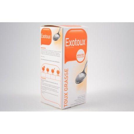 EXOTOUX Carbocisteine Sirop Toux grasse Sans sucre Flacon de 200 ml