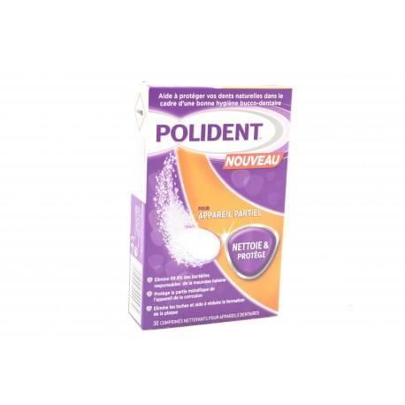 POLIDENT Comprimès nettoyants pour appreils dentaires NETTOIE ET PROTEGE Boite de 30