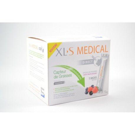 XLS MEDICAL Capteur de graisses Stick de poudre Gout fruits rouges Boite de 1 mois soit 90 sticks