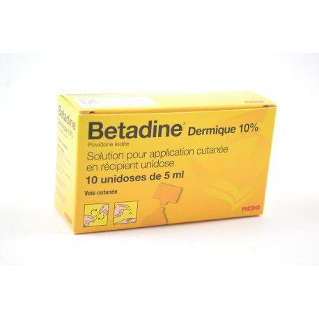 BETADINE Dermique 10 % Solution por application cutanée Boite de 10 unidoses de 5 ml