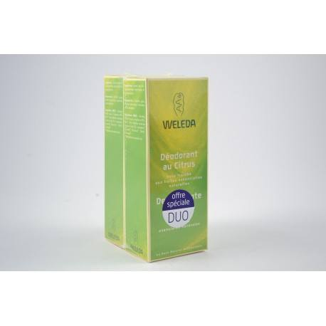 WELEDA Lot de 2 déodorants au citrus 2 x 100 ml