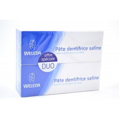 WELEDA Lot de 2 pâtes dentifrice saline 2 x 75 ml