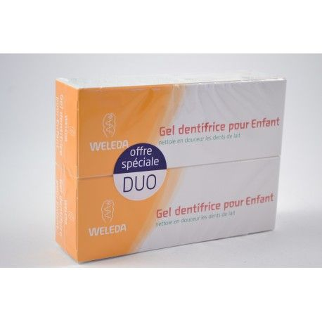 WELEDA Lot de 2 gel dentifrice pour enfant