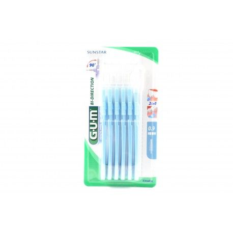 GUM SUNSTAR Bi-direction Brossette interdentaire 0.9 mm