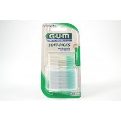 GUM SOFT-PICKS + Fluoride Regular Boite de 40