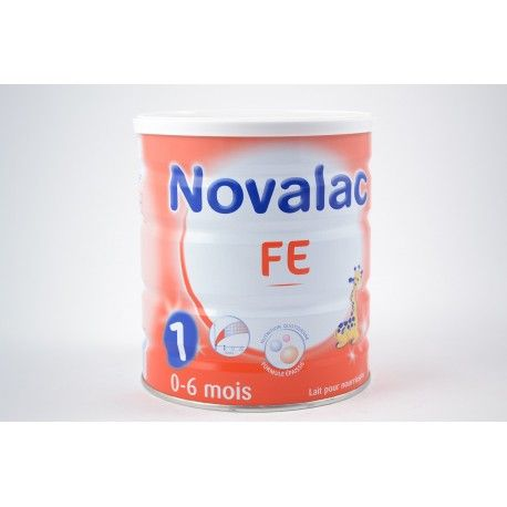 NOVALAC FE 1 er age 0 - 6 mois Boite de 800 gr