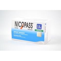 NICOPASS SANS SUCRE 1.5 Mg Boite de 96 pastilles Goût Eucalyptus