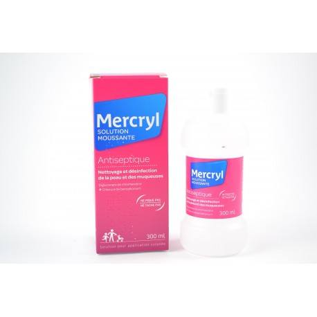 MERCRYL Sol mouss Fl/300ml blanc