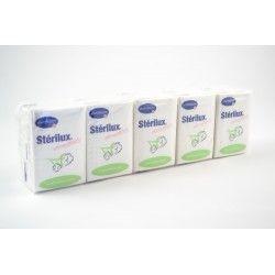 HARTMANN STERILUX Douceur Sachets de 10 paquets de 10 mouchoirs blanc