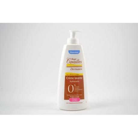 ROGE CAVAILLES Dermazero Crème lavante hydratante Flacon pompe de 500 ml