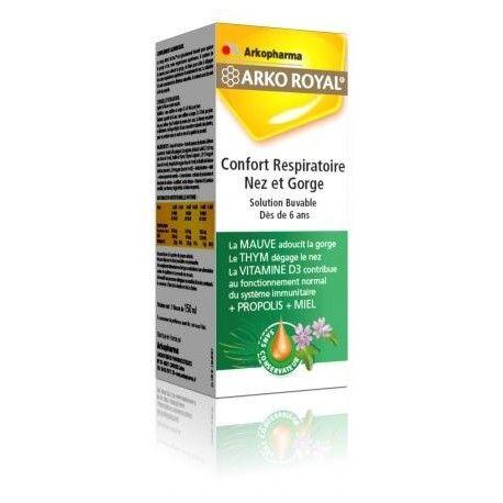 ARKOPHARMA ARKO ROYAL Confort respiratoire nez et gorge Flacon de 150 ml