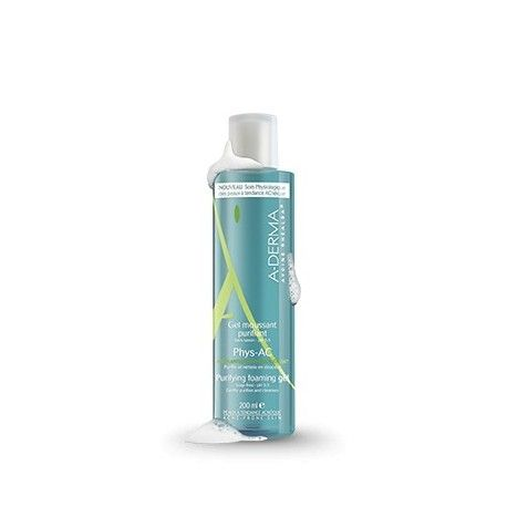ADERMA Gel moussant purifiant PHYS-AC Flacon de 200 ml