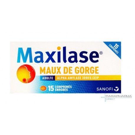 MAXILASE Maux de gorges Boite de 15 comprimés