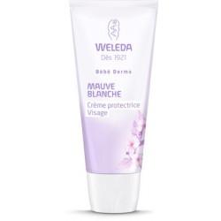 WELEDA Bébé derma Crème protectrice visage Mauve blanche Tube de 50 ml